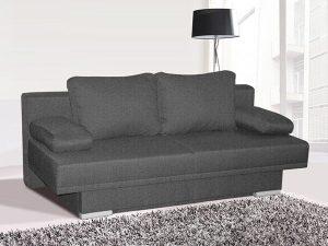 Canapé lit bon marché tissu gris clair