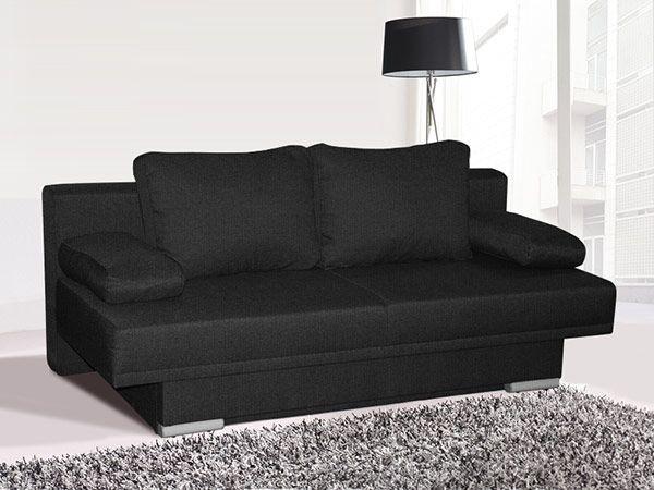 Canapé lit bon marché tissu gris foncé