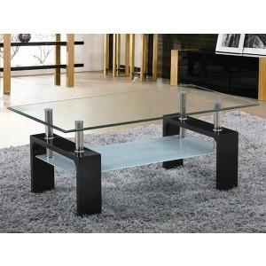 Table basse noir laqué