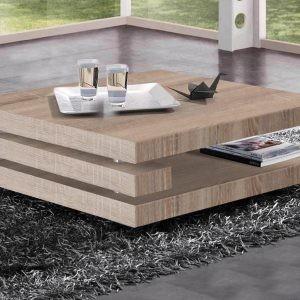 table de salon carré couleur chene
