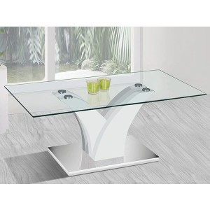 Table de salon 'Corina' Blanc laqué