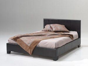 Lit de style boxspring 140 ou 160 cm de large 2 coloris: pp brun ou pp noir