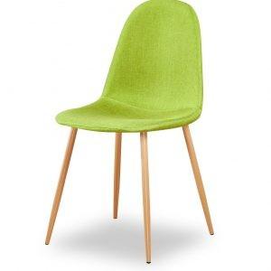 chaise scandinave vert citron