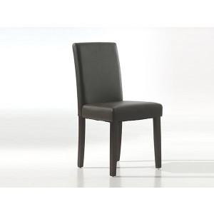 Chaise de salle à manger PU brun