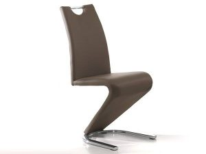 Chaise design couleur cappuccino