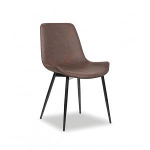 Chaise microfibre brun