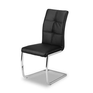 Chaise très confortable pour une salle à manger couleur pu noir