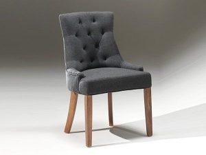 chaise tissu anthracite
