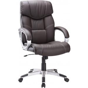 Fauteuil de bureau ergonomique couleur brun