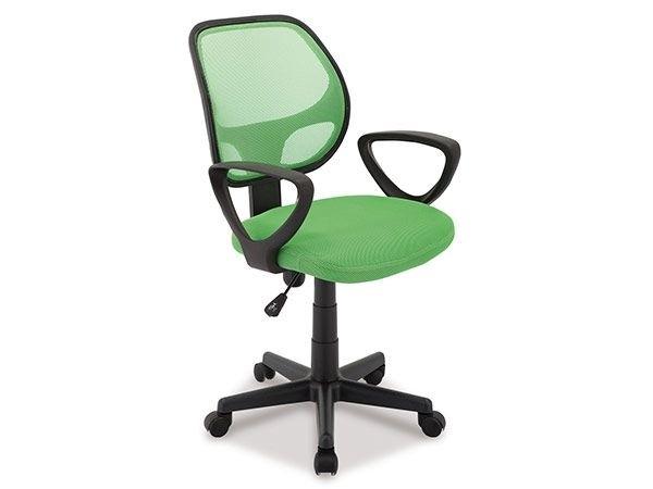 chaise de bureau tissu et maille vert