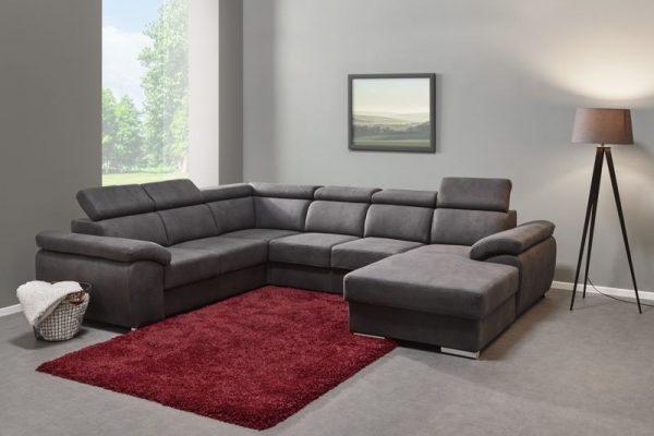 canapé d'angle couleur gris