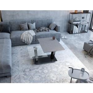 Table de salon avec plateau en céramique de haute qualité couleur argile