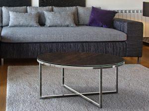 Table basse ronde céramique acier