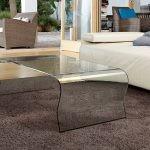 Table basse en verre courbée à chaud