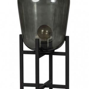 Lampe sur table avec verre noir