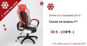 Chaise de bureau à 99€ dans le calendrier de l'avent