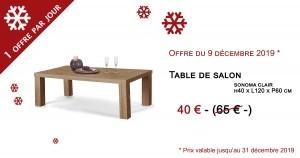 Table basse en bois à installé dans votre salon