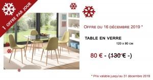 table en verre - 80€