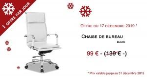 chaise de bureau blanc à offrir pour noël
