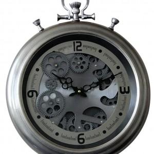 Horloge murale avec engrenages mobiles