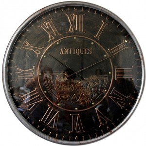 Horloge murale antique avec engrenages