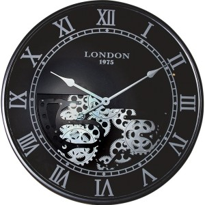 Horloge murale noire LONDON