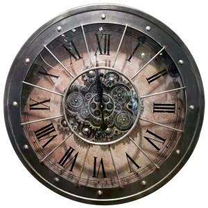 Horloge retro et engrenages