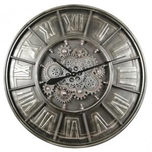 horloge métallique à engrenages