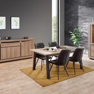 Salle à manger bois decor chêne clair