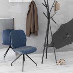Chaise couleur anthracite dans un mélange de tissu et de polyuréthane disponible dans d'autres coloris