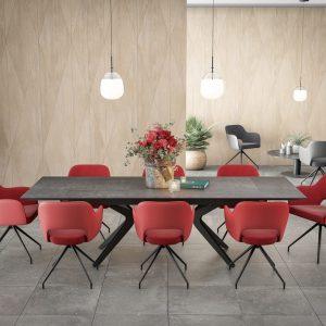 chaise confort avec une assise d'une densité de 25 kg/m²