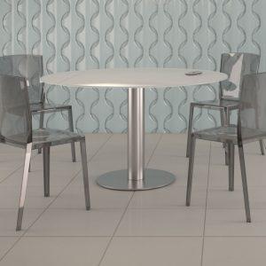 chaise madison gris fumé polycarbonate