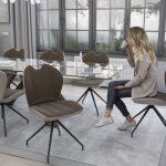 lot de 2 chaises pivotantes NEW YORK avec une assise très confortable muni d'une poignet pratique