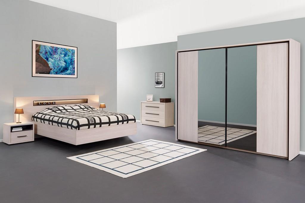 Chambre Coloris Chene Blanchi Meubles Style Decor