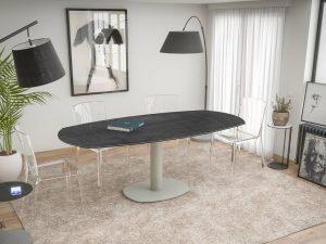 Table de salle à manger en céramique titane