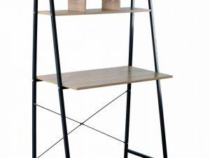 Etagère en métal noir et bois sonoma hauteur de 142 cm