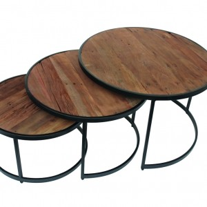 Set de 3 tables pour le salon
