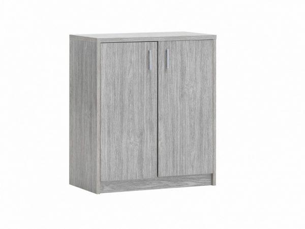 commode 2 portes couleur décor chêne gris
