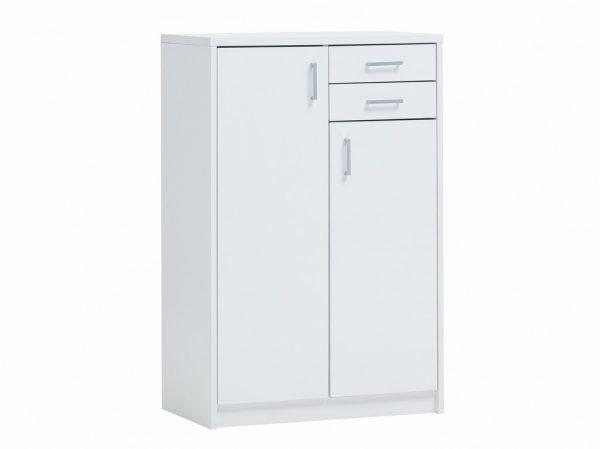 Armoire 2 portes et 2 tiroirs blanche