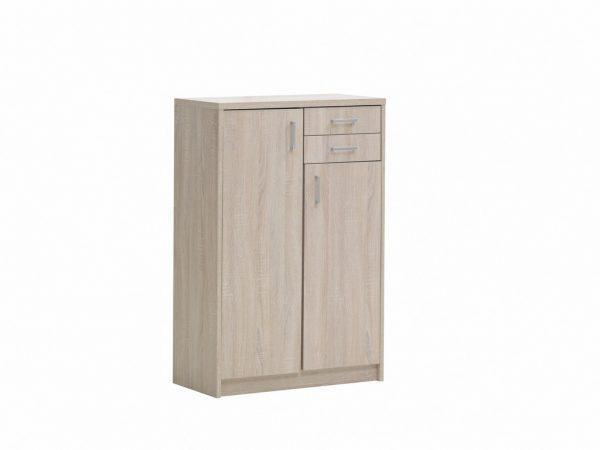 Armoire 2 portes et 2 tiroirs décor sonoma
