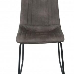 Chaise de cuisine ou de salle à manger assise revêtue de PU taupe