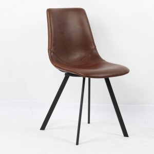 Chaise moderne pu brun