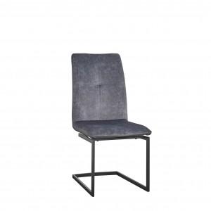 Chaise moderne en tissu microfibre et pieds en U