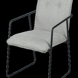 Chaise de style industriel tissu gris clair
