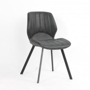 Chaise latina avec un coussin d'assise rembourrée PU noir