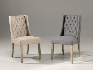 Chaise en tissu (2 coloris)