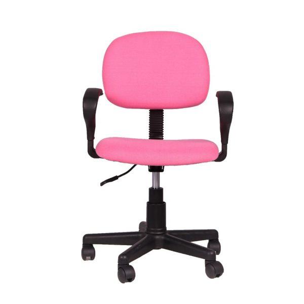 Chaise de bureau 'Happy' PU nylon rose