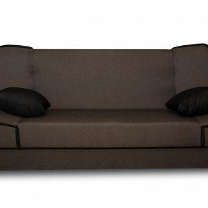 canapé polyvalent canapé et lit pour 2 personnes couleur brun