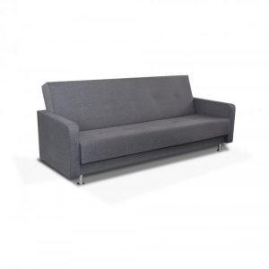 Canapé convertible double fonction assise et lit couleur grise