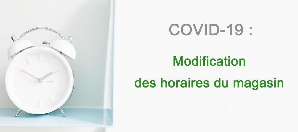 Adaptation des horaires d'ouverture du magasin de meubles le bizet Belgique